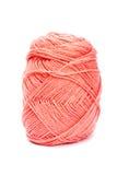 Lãs cor-de-rosa do fio para fazer malha Fotografia de Stock Royalty Free