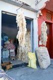 Lãs da ram na rua em Medina rabat marrocos Fotos de Stock