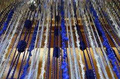 Lãs de tecelagem Fotografia de Stock Royalty Free