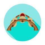 Lãs dos carretéis do enrolamento do ícone do círculo Fotografia de Stock