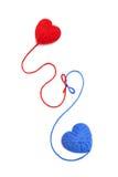 Lãs hearts-25 Imagens de Stock