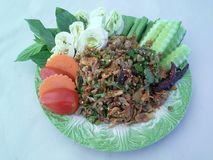 Lāb pĕd. Thailand has a restaurant chef to cook it. The taste is a doctoral Luxembourg Stock Photo