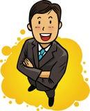 Lächeln, überzeugter Geschäftsmann Lizenzfreies Stockbild