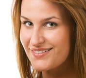 Lächeln der jungen Frau. Stockfoto