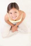 Lächeln der jungen Frau Stockbild