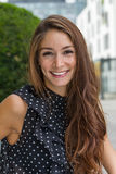 Lächeln der jungen Frau Lizenzfreies Stockfoto