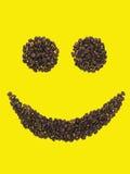 Lächeln der Kaffeebohnen Stockfotos