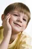 Lächeln der Kindheit Stockfoto