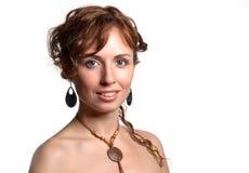 Lächeln der recht jungen Frau Lizenzfreie Stockfotos