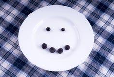 Lächeln der Vorderansicht der Beeren Lizenzfreies Stockbild