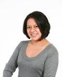 Lächeln der wirklichen Frau lizenzfreie stockfotografie