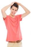 Lächeln des jungen Mannes Stockfotos