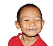 Lächeln des kleinen Jungen Stockfotos