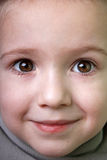 Lächeln des kleinen Kindes Lizenzfreies Stockbild