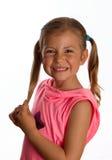 Lächeln des recht kleinen Mädchens Lizenzfreies Stockbild