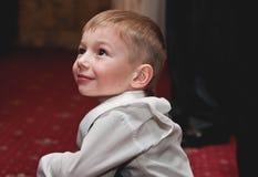 Lächeln eines Kindes Stockfoto
