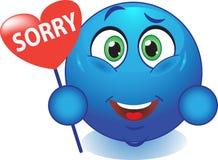 Lächeln entschuldigt sich Lizenzfreies Stockfoto