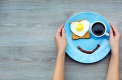 Lächeln für einen guten Morgen Stockbild