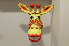 Lächeln-Giraffe Stockfoto