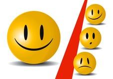 Lächeln-Ikone Stockfotografie