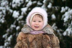 Lächeln im Schnee Lizenzfreies Stockbild