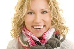Lächeln im Winter Stockfotografie