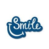 Lächeln Inspirierend Zitat über glückliches Stockfotografie