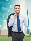 Lächeln junger und hübscher Geschäftsmann Lizenzfreie Stockfotos