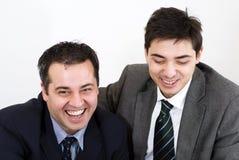 Lächeln mit zwei Teilnehmern Stockfotos