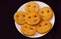 Lächeln-Snack gemacht mit Kartoffel Lizenzfreies Stockbild
