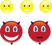 Lächeln und Gefühle Stockbild