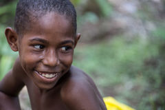Lächeln von Papua-Neu-Guinea Stockfotos