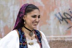 Lächeln von Sardinien Stockfotos