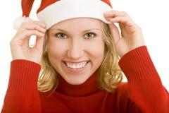 Lächeln am Weihnachten Stockfotos