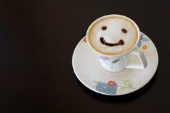 Lächelncappuccino Stockfotografie