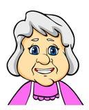Lächelnde ältere Frau vektor abbildung