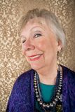 Lächelnde ältere Frau Lizenzfreie Stockfotos