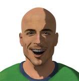 Lächelnde Abbildung des jungen Mannes Lizenzfreie Stockfotos