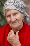 Lächelnde alte Frau Lizenzfreie Stockfotografie