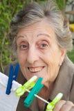 Lächelnde alte Frau Stockfotos