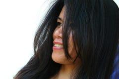 Lächelnde asiatische Frau lizenzfreies stockbild
