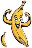 Lächelnde Bananenkarikatur Lizenzfreie Stockbilder