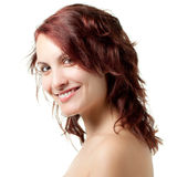 Lächelnde blanke Frau Lizenzfreie Stockfotos