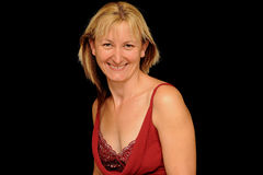 Lächelnde blonde Frau Lizenzfreies Stockbild