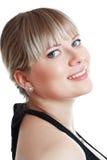 Lächelnde blonde Frau Stockfotos