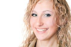 Lächelnde blonde Frau der Junge Stockfotografie