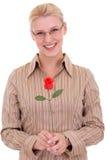 Lächelnde blonde Frauen Stockfoto