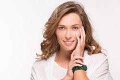 Lächelnde Blondine Lizenzfreies Stockfoto