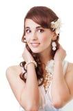 Lächelnde Braut Stockfotografie