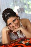 Lächelnde Braut Stockbild